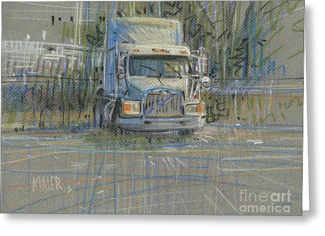 Cabs Greeting Cards - No Trailer Greeting Card by Donald Maier