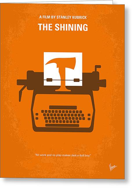 Orange Posters Greeting Cards - No094 My The Shining minimal movie poster Greeting Card by Chungkong Art