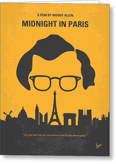 Woodies Greeting Cards - No146 My Manhattan minimal movie poster Greeting Card by Chungkong Art