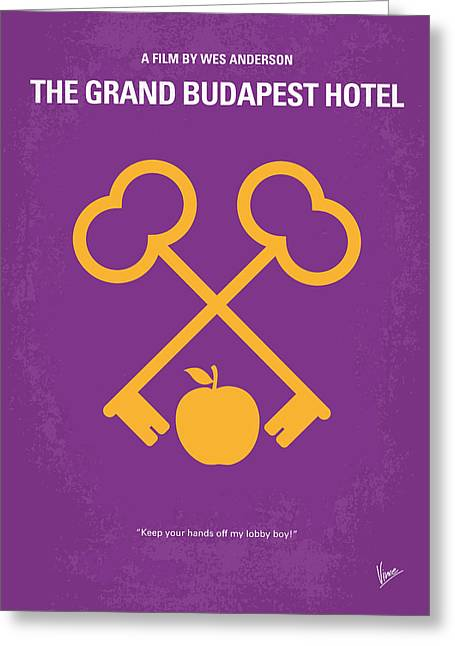 Writers Greeting Cards - No347 My The Grand Budapest Hotel minimal movie poster Greeting Card by Chungkong Art