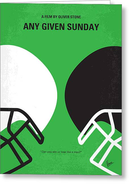 D Greeting Cards - No420 My ANY GIVEN SUNDAY minimal movie poster Greeting Card by Chungkong Art
