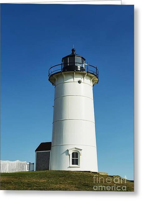 Nobska Lighthouse Greeting Card by John Greim