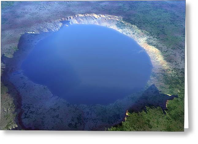 Nordlinger Ries Impact Crater, Artwork Greeting Card by Science Photo Library