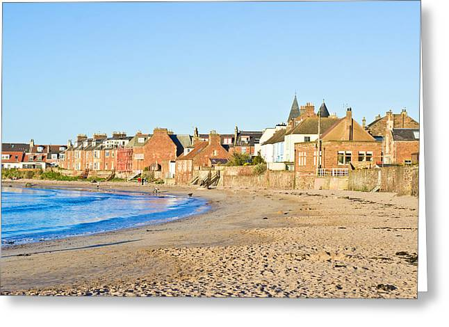 Ocean Panorama Photographs Greeting Cards - North Berwick Greeting Card by Tom Gowanlock
