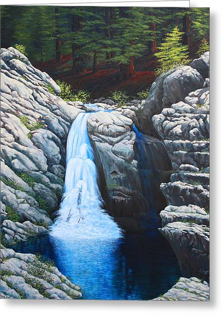 North Fork Greeting Cards - North Fork Falls Greeting Card by Tom Joslin