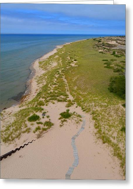 Ludington State Park Greeting Cards - North of Big Sable Point 2 Greeting Card by Michelle Calkins