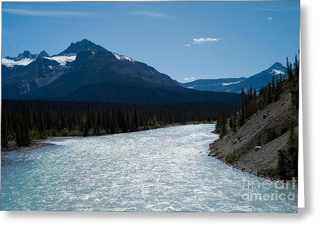 Fed Greeting Cards - North Saskatchewan River Greeting Card by Rafael Macia