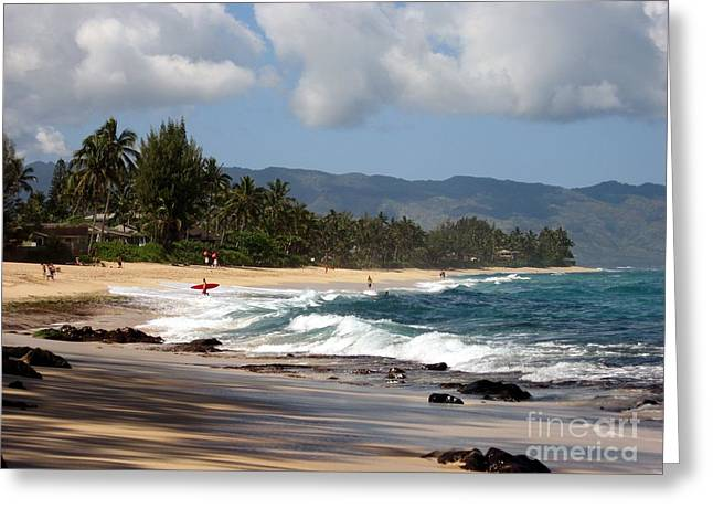 Laniakea Beach Greeting Cards - North Shore Greeting Card by Christine Stack