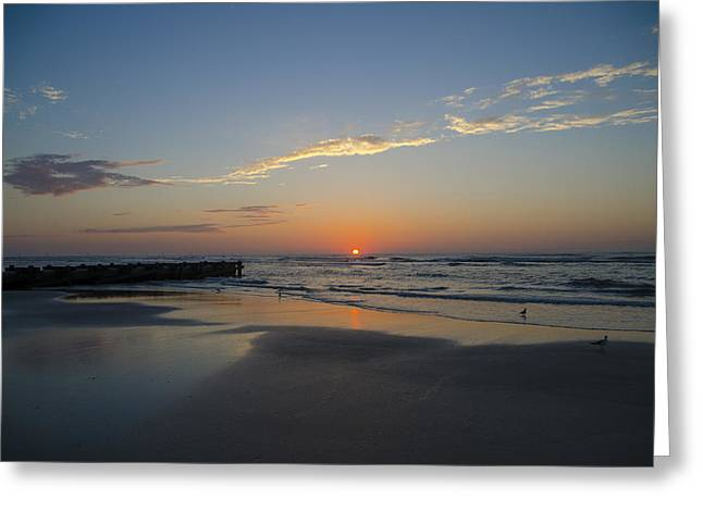 Drain Greeting Cards - North Wildwood Sunrise Greeting Card by Bill Cannon