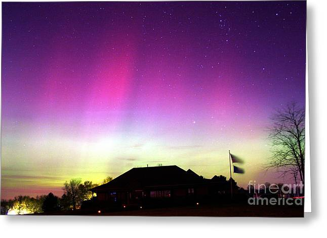 Carlisle Greeting Cards - Northern Lights Greeting Card by John Chumack