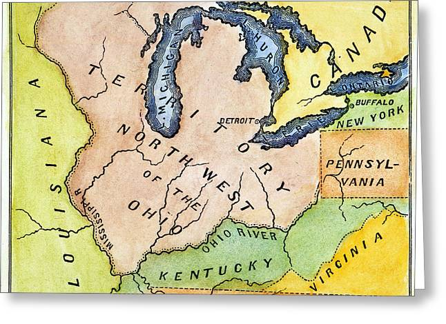 Northwest Territory, 1787 Greeting Card by Granger
