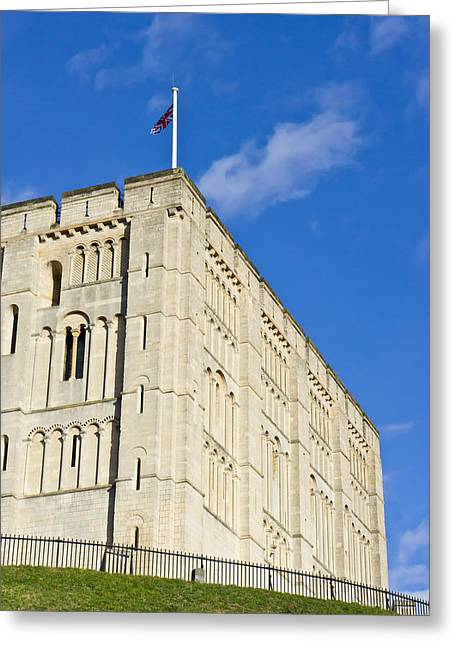 Defend Greeting Cards - Norwich Castle Greeting Card by Tom Gowanlock