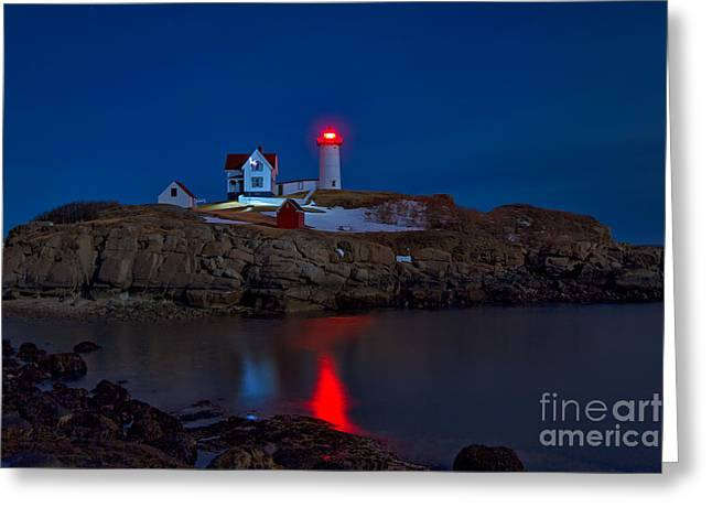 Sohier Park Greeting Cards - Nubble Lighthouse Greeting Card by Donald Gargano