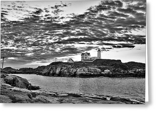 Nubble Lighthouse - Maine Greeting Card by Steven Ralser