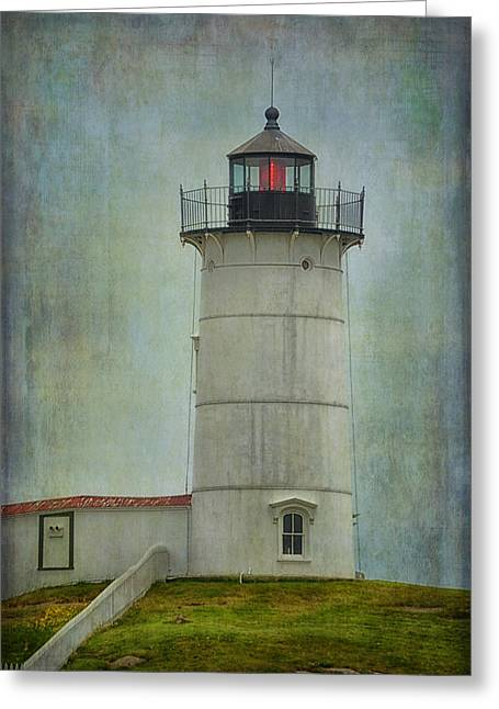 Cape Neddick Lighthouse Greeting Cards - Nubble Greeting Card by Tricia Marchlik