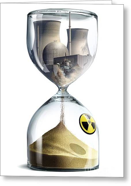 Industrial Concept Greeting Cards - Nuclear Hourglass, Conceptual Image Greeting Card by Smetek