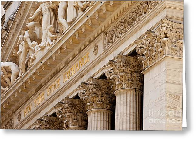 Stock Trading Greeting Cards - NY Stock Exchange Greeting Card by Brian Jannsen