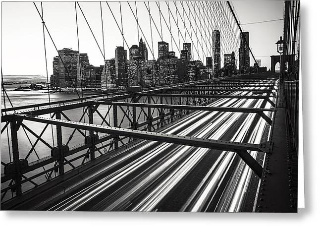 City Art Greeting Cards - NYC Brooklyn View Greeting Card by Nina Papiorek
