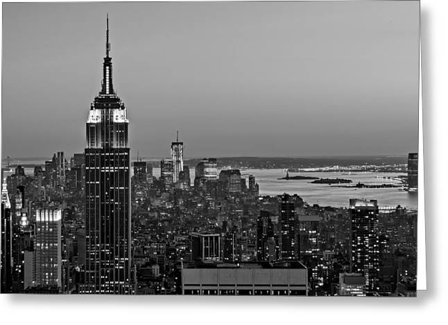 Top Of The Rock Greeting Cards - NYC Top Of The Rock Greeting Card by Susan Candelario