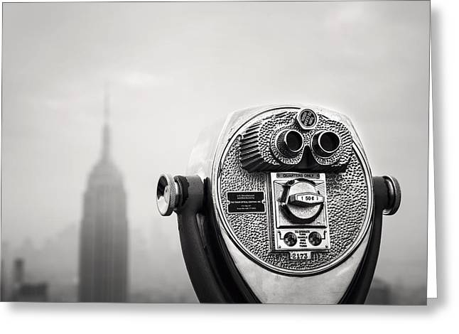 Black Top Greeting Cards - NYC Viewpoint Greeting Card by Nina Papiorek