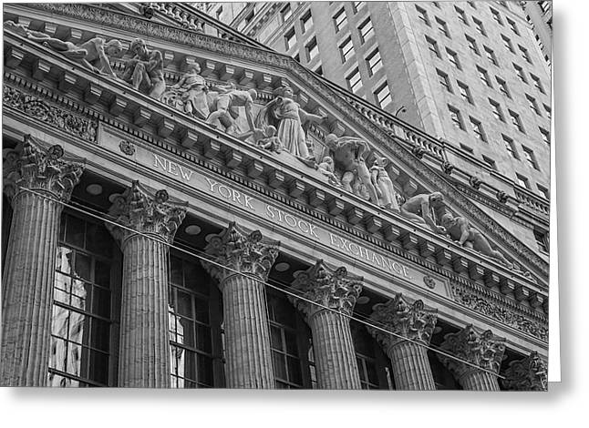 Enterprise Greeting Cards - NYSE  New York Stock Exchange Wall Street Greeting Card by Susan Candelario