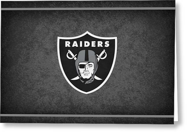 Raider Greeting Cards - Oakland Raiders Greeting Card by Joe Hamilton