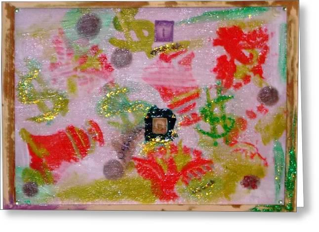 OBAMA ROCKS Greeting Card by Leslie Byrne