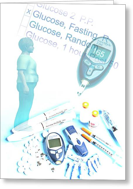 Obesity And Diabetes Greeting Card by Carol & Mike Werner