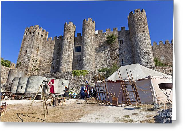Historical Re-enactments Greeting Cards - Obidos Castle Greeting Card by Jose Elias - Sofia Pereira