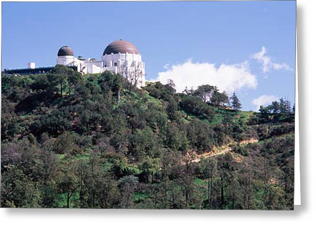 Observatory Greeting Cards - Observatory On A Hill, Griffith Park Greeting Card by Panoramic Images