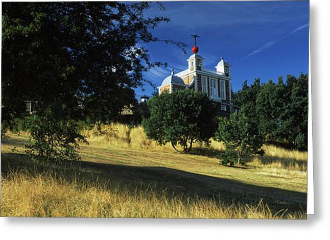 Observatories Greeting Cards - Observatory On A Hill, Royal Greeting Card by Panoramic Images