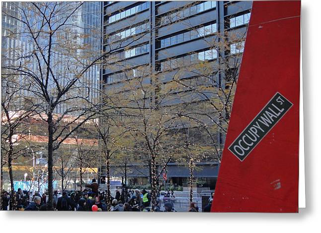 Occupy Greeting Cards - Occupied Greeting Card by Photolope Images