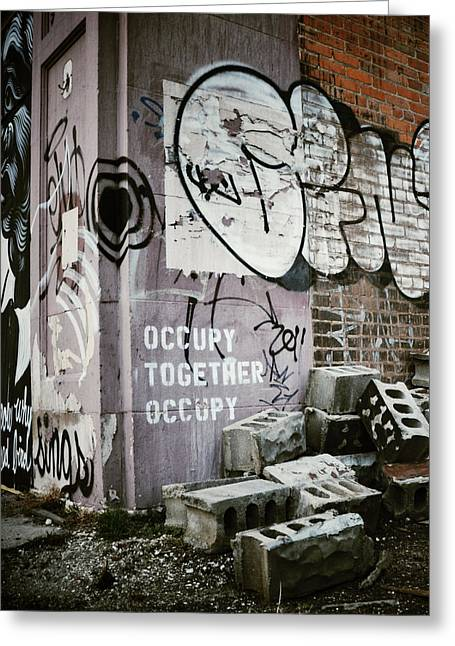 Occupy Greeting Cards - Occupy Together Occupy Greeting Card by Natasha Marco
