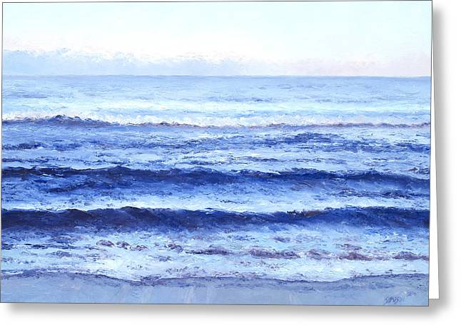 Beach Decor Posters Greeting Cards - Ocean at Dusk Greeting Card by Jan Matson