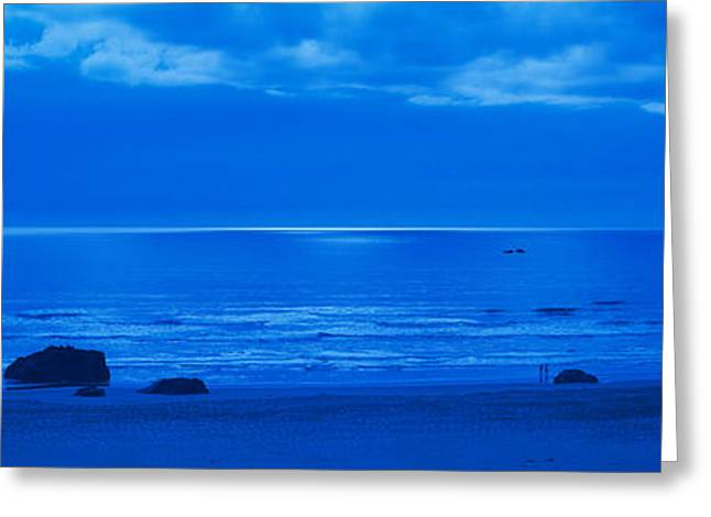 Ocean Images Greeting Cards - Ocean At Night, Bandon State Natural Greeting Card by Panoramic Images