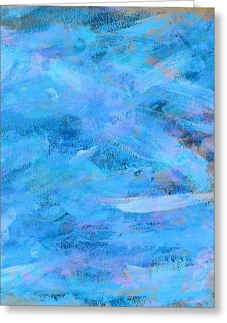 True Blue Greeting Cards - Ocean Blue Abstract Greeting Card by Frank Tschakert