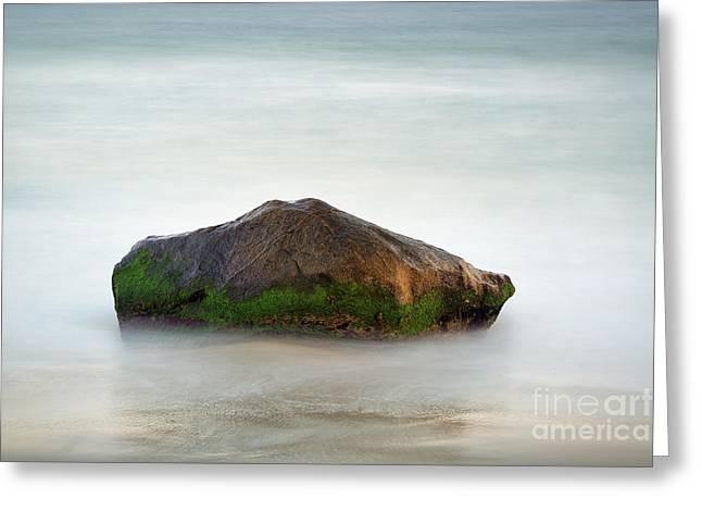 Steadfast Greeting Cards - Ocean Rock Greeting Card by John Greim
