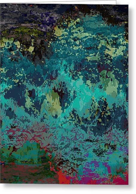 Abstract Digital Paintings Greeting Cards - Ocean Series 5 Greeting Card by Franco Timitilli