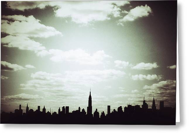 Times Square Digital Art Greeting Cards - October in NYC Greeting Card by Natasha Marco