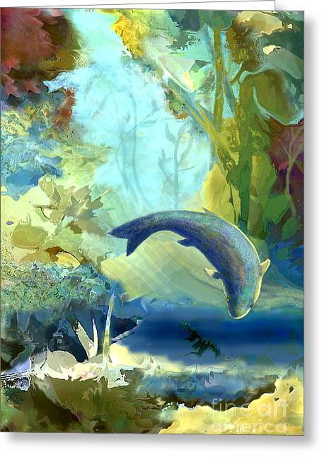 Plankton Greeting Cards - Octopus Garden 2   Greeting Card by Ursula Freer