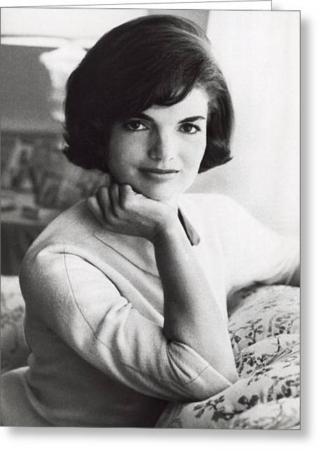 Official Photograph Of Jackie Greeting Card by Underwood Archives