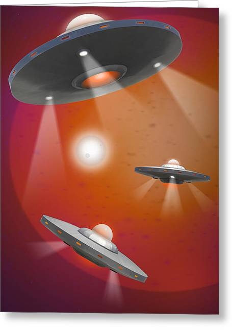 Spacecraft Greeting Cards - Oh - I Believe 5 Greeting Card by Mike McGlothlen