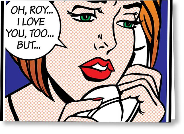 Retro-montage Greeting Cards - Oh Roy Greeting Card by Gary Grayson