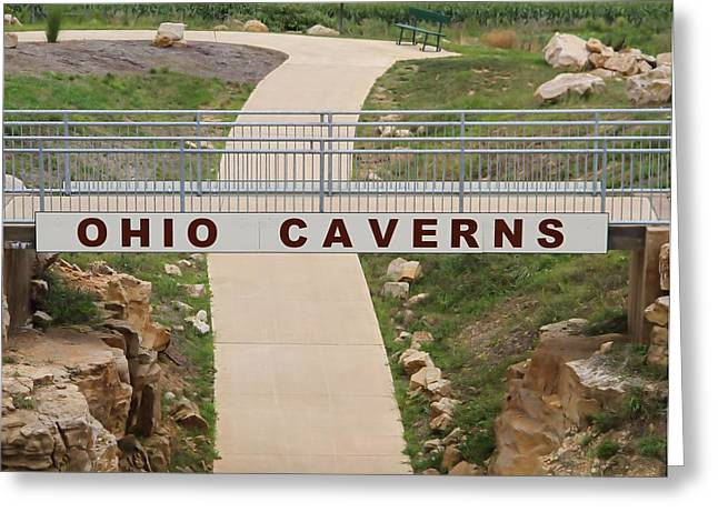 Cavern Greeting Cards - Ohio Caverns Greeting Card by Dan Sproul