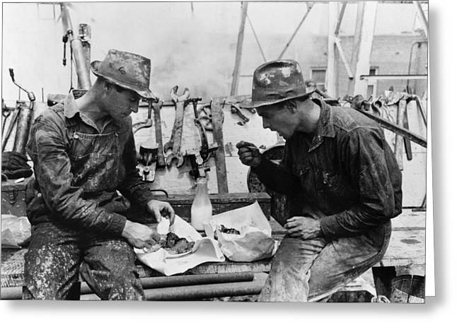 Oil Workers, 1939 Greeting Card by Granger