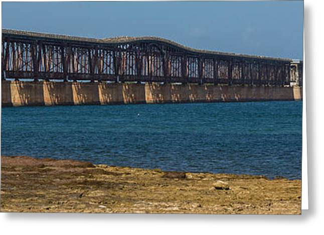 Overseas Railway Greeting Cards - Old Bahia Honda Bridge Greeting Card by Ed Gleichman