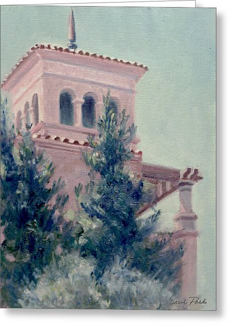 Office Space Greeting Cards - Old Bell Tower Greeting Card by Sarah Parks