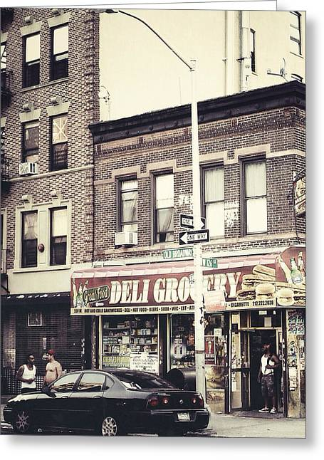 Deli Greeting Cards - Old Broadway Greeting Card by Natasha Marco