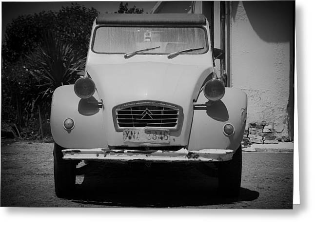 Crete Greeting Cards - Old Car in Crete Greeting Card by Mountain Dreams