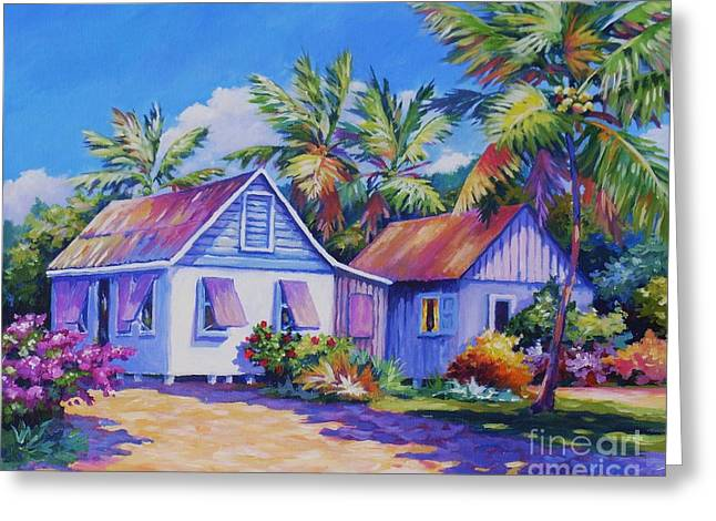 Wattle Greeting Cards - Old Cayman Cottages Greeting Card by John Clark